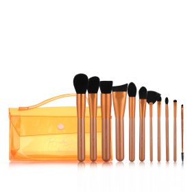 Neon Orange Essentials Brush Set - 11 pcs