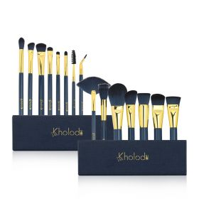 Makeup Brushes For Eyes & Face - 15 pcs