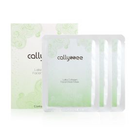 Latte Collagen Facial Sheet Masks - 3 Pcs