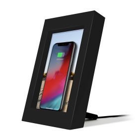 PowerPic Wireless Charger Picture Frame - Black