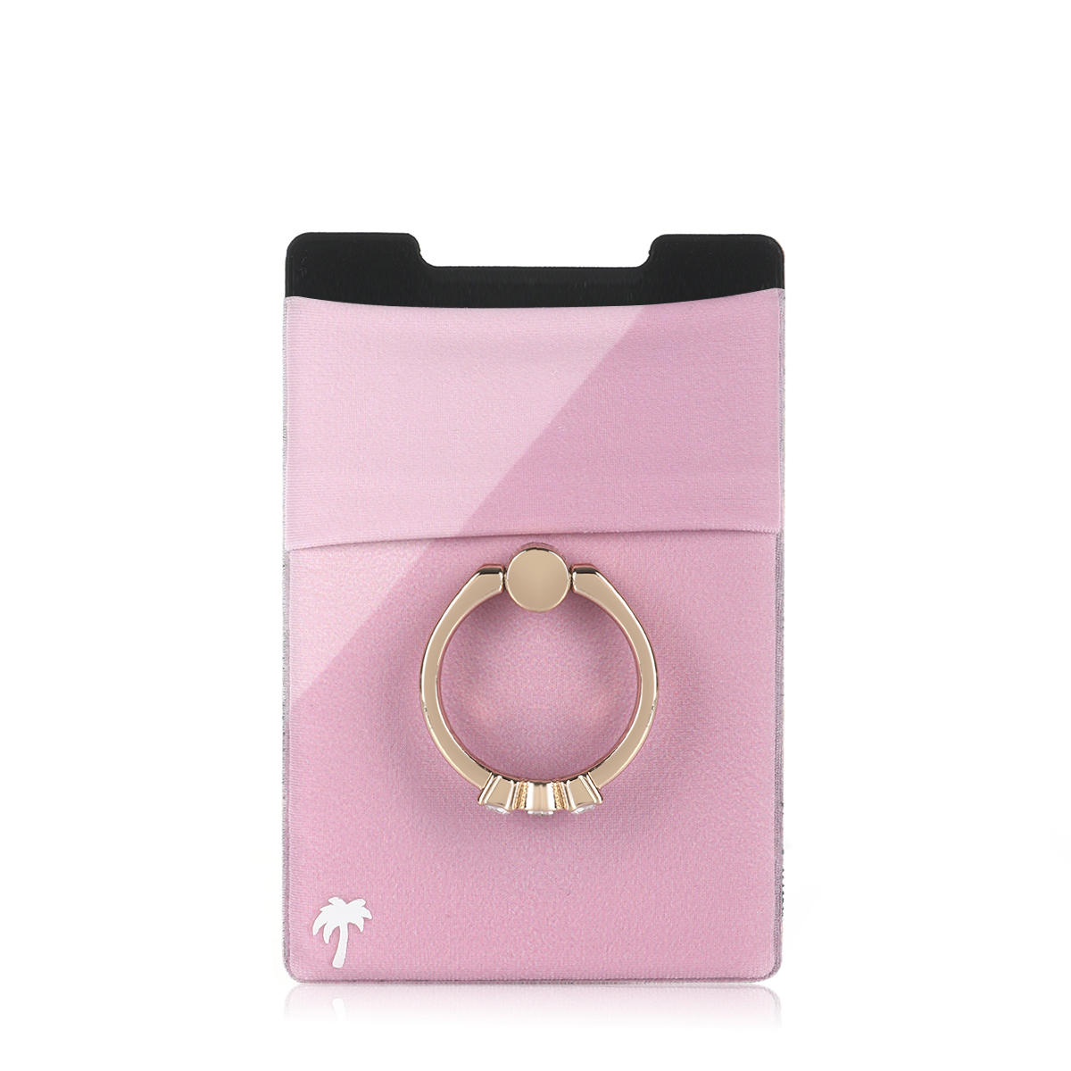 Sticky Wallet With Diamond Ring - Pink
